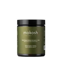 Mokosh - nawilżający balsam do twarzy i ciała - zielona kawa z tabaką - 180 ml